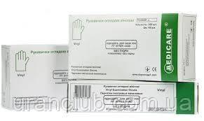 Перчатки медицинские латексные medicare без пудры размер L