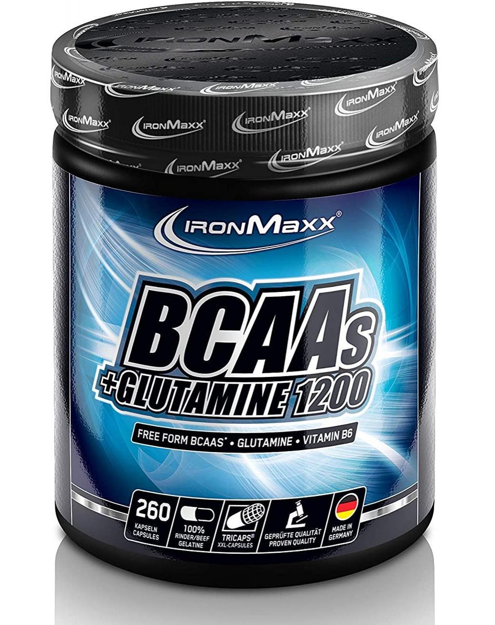 IronMaxx BCAAs + Glutamine 1200 260 caps