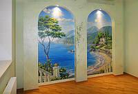 Декоративная роспись стен в интерьере