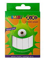 Крейда біла квадратна 12шт., картонна коробка, SMART Line по 4шт в упак. // (ZB.6705-12)