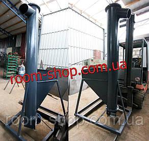 Вертикальный шнековый транспортер, погрузчик, диаметр 159 мм., высота выгрузки 2 метра