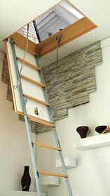 Букові сходи на горище Bukwood Compact Metal ST 130х70, 130х80 (280 см)