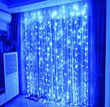 Электрическая гирлянда Водопад 400 LED 3 м х 2 м, синяя, фото 2
