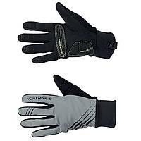 Велоперчатки зимние мужские Northwave Power 2 Gel Winter Reflective черно-серые L