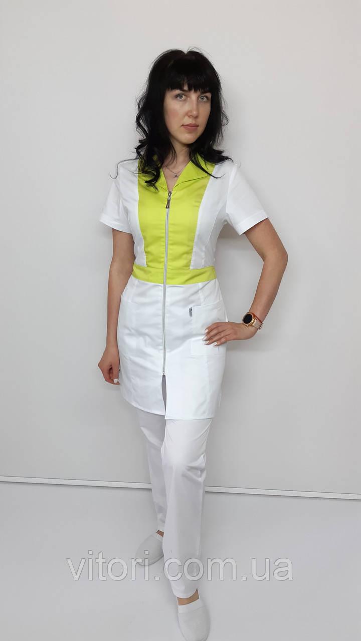 Жіночий медичний костюм Опера коттон три чверті рукав