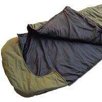 Спальный мешок зимний одеяло SkyFish 220х160 см спальник туристический Олива