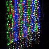 Электрическая гирлянда Водопад 480 LED 3 м х 3 м, мульти, фото 4