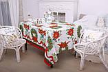 Скатертина Новорічна 150-220 «Christmas Wreath», фото 3
