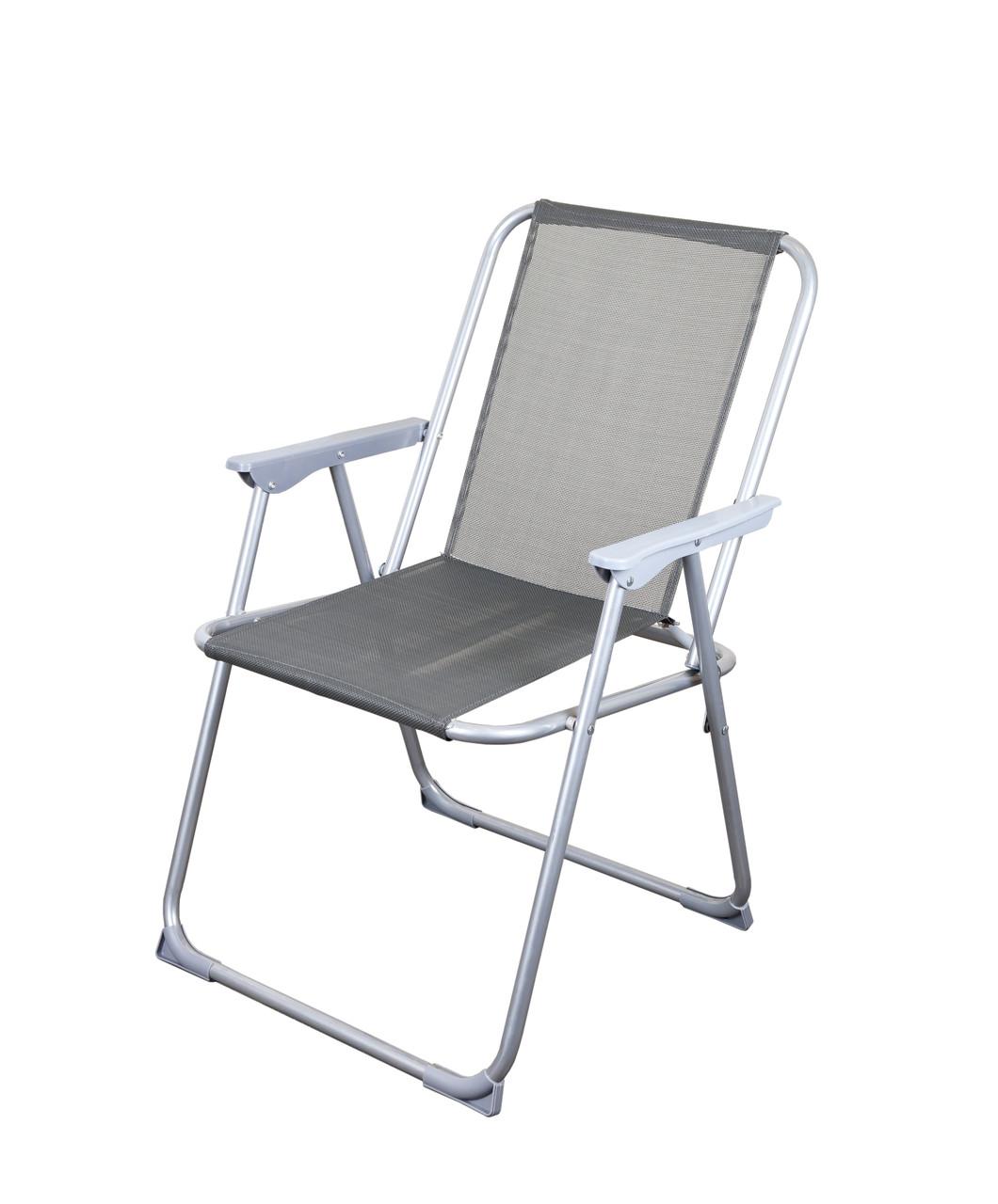 Серый складной стул