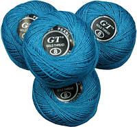 Нитки ирис голубой № 857