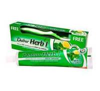 Зубная паста Dabur Herb l Мята и лимон 150 г + зубная щётка в подарок!