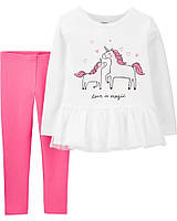 Модный детский костюм из 2-х вещей Цветочки Картерс для девочки