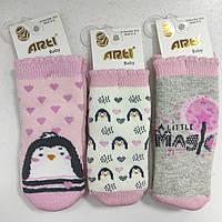 Носки махровые для новорожденной девочки, р. 6-12 мес, Турция
