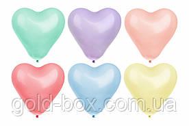 Воздушные шары в форме сердца 100 шт