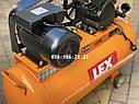 Компрессор воздушный Lex LXC100-2 масляный 100л 660л/мин ременной, фото 5