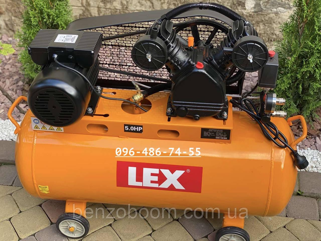 Компрессор воздушный Lex LXC100-2 масляный 100л 660л/мин ременной