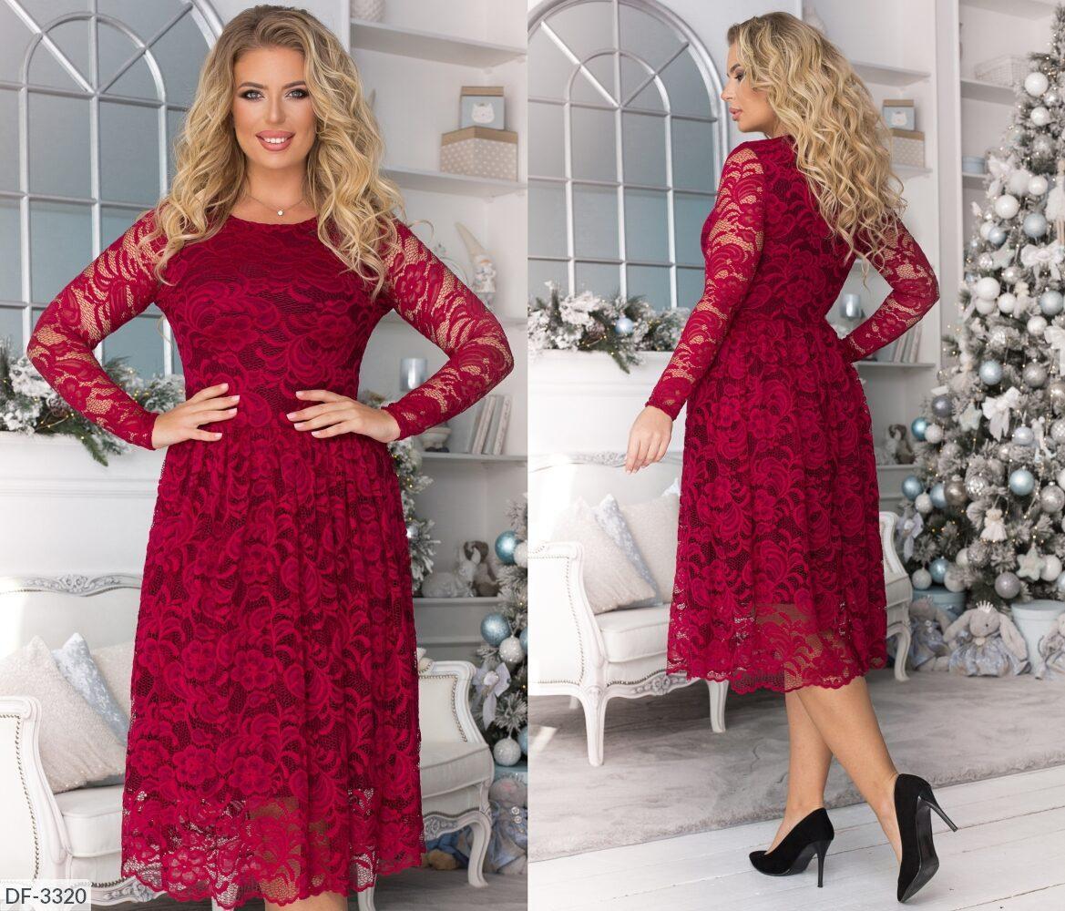 Женское  гипюровое платье. Размер: 48, 50, 52, 54. Ткань: гипюр, подкладка трикотаж.