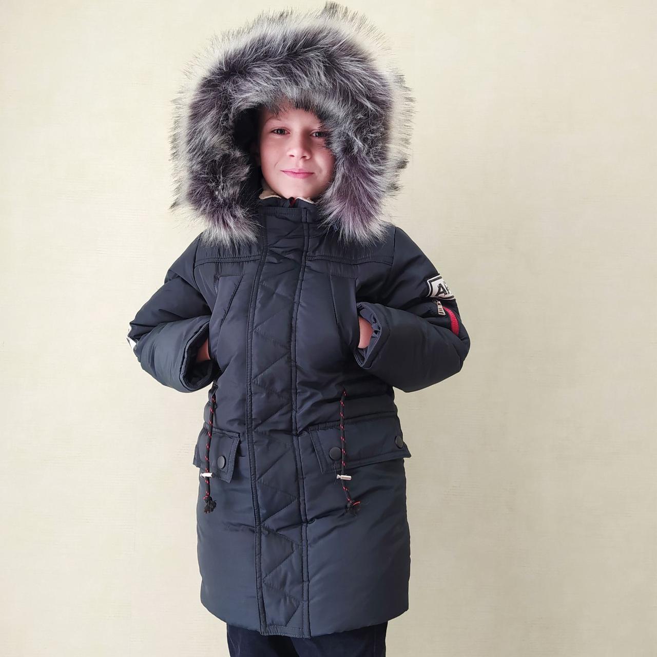 Зимняя куртка для мальчика на меховой подстежке