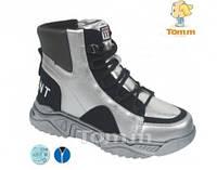 Зимние ботинки Tom.m р. 38 стелька 24,5 см детские для девочки подростковые серебристые C-T7717-D