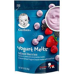 Yogurt melts - йогуртные перекусы Gerber Микс ягодный
