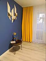 Желтая ткань для штор микровелюр Diamond №344. Ткань для штор на отрез. Турецкая ткань для штор