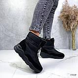 Женские дутики черные 13539, фото 3