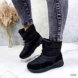 Женские дутики черные 13539, фото 9