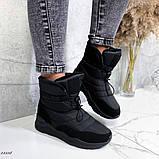 Женские дутики черные 13539, фото 8