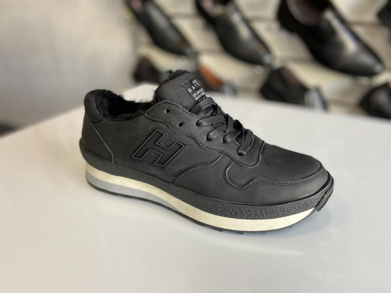 Мужские зимние кожаные кроссовки Gattini размеры 38,39,40,41,42,43,44-45