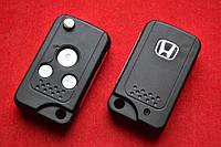 Ключ Honda accord, cr-v выкидной ключ 3 кнопки вид Smart