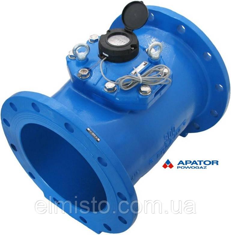 Водосчетчик Apator PoWoGaz MWN-300-NK (ХВ) с импульсным выходом турбинный Ду-300 сухоход промышленный