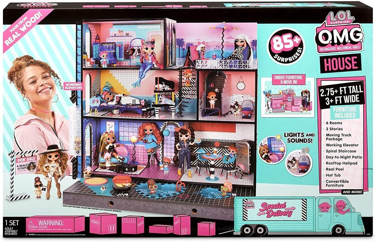 LOL OMG House Будинок для ляльок ЛОЛ ( Лол Модный особняк ОМГ дом 85+ сюрпризов. Дом Лол )