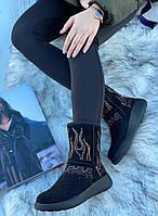 Ботинки женские зимние с супинатором 6 пар в ящике черного цвета 36-41, фото 2
