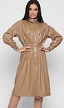 Платье из экокожи бежевое, фото 4