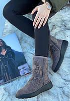Ботинки женские зимние с супинатором 6 пар в ящике серого цвета 36-41, фото 2