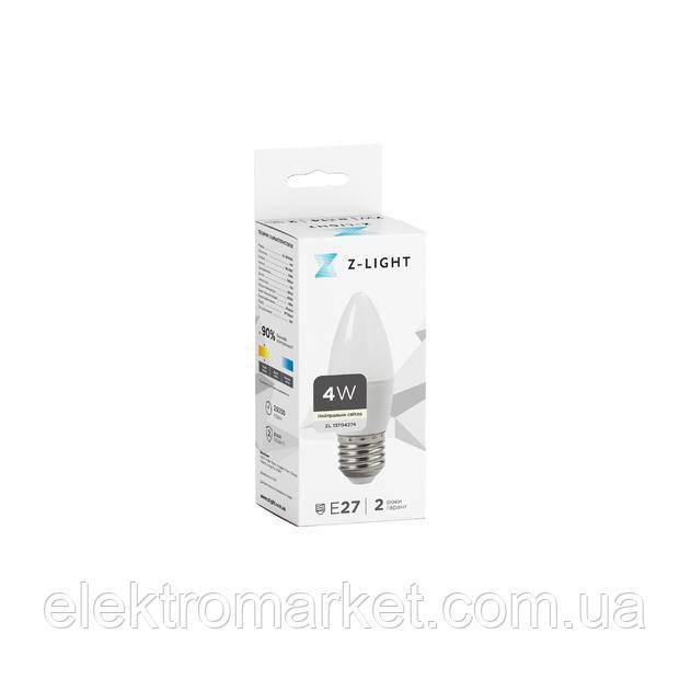 LED лампа Z-Light 4W,свечка, E27, 360lm (ZL 13704274)