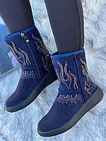 Ботинки женские зимние с супинатором 6 пар в ящике синего цвета 36-41, фото 3
