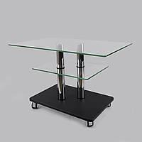 Журнальный столик на колесиках стекло прямоугольный Commus Bravo Max P cc-venge-2chr60