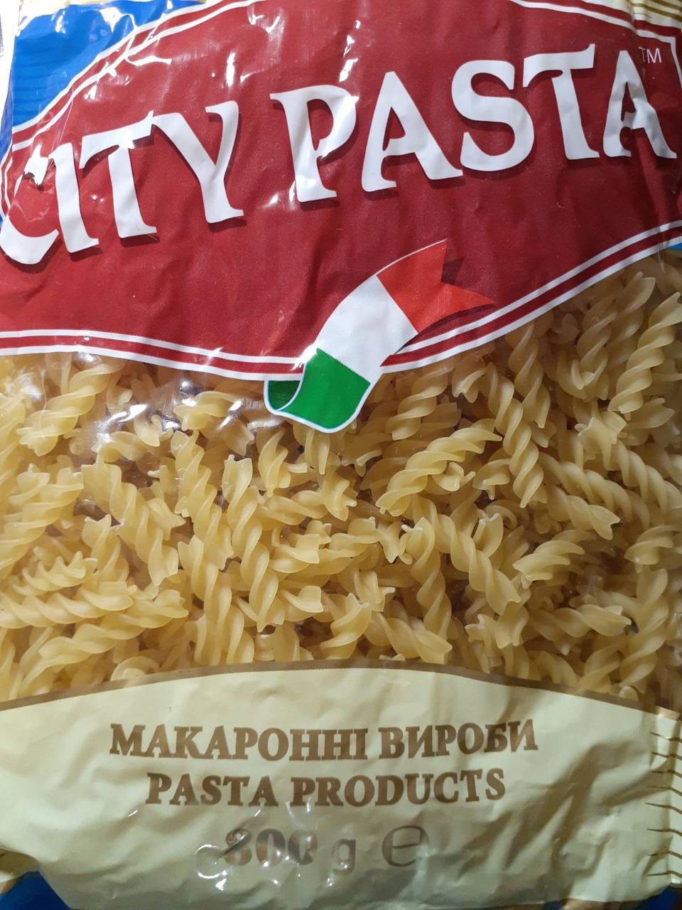 Спиральки City Pasta с твёрдых сортов 800 грамм