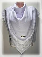 Нарядные кашемировые платки Грация, белый