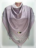 Нарядные кашемировые платки Грация, сиреневый