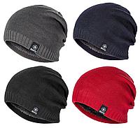 Модная зимняя теплая шапка (унисекс, женская, мужская) разные цвета