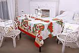 Скатертина Новорічна 120-150 з Дідом морозом, фото 4
