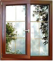 Деревянные окна из евробруса с стеклопакетами