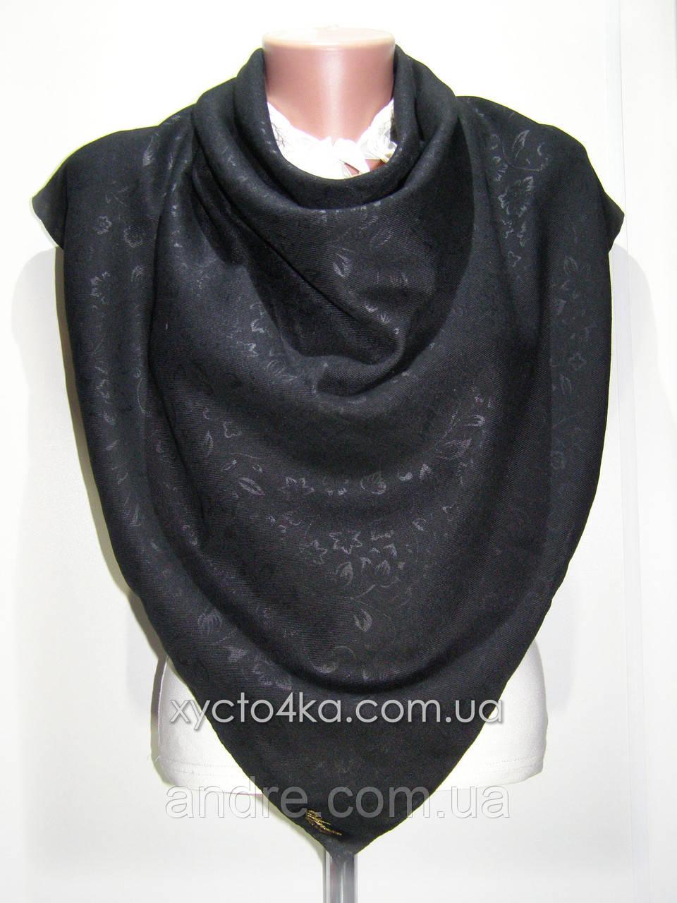 Однотонные шерстяные платки Прованс, чёрный