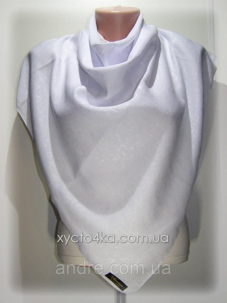 Однотонные шерстяные платки Прованс, белый
