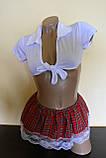Эротический костюм школьница сексуальний комплект білизни, фото 2