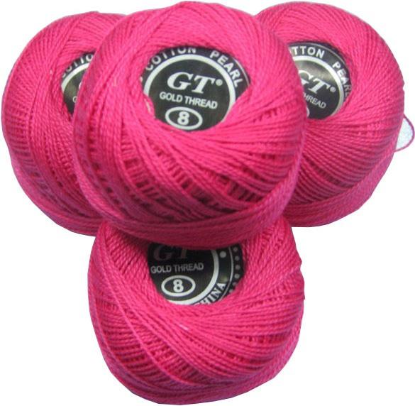 Нитки ирис ярко-розовый № 2055
