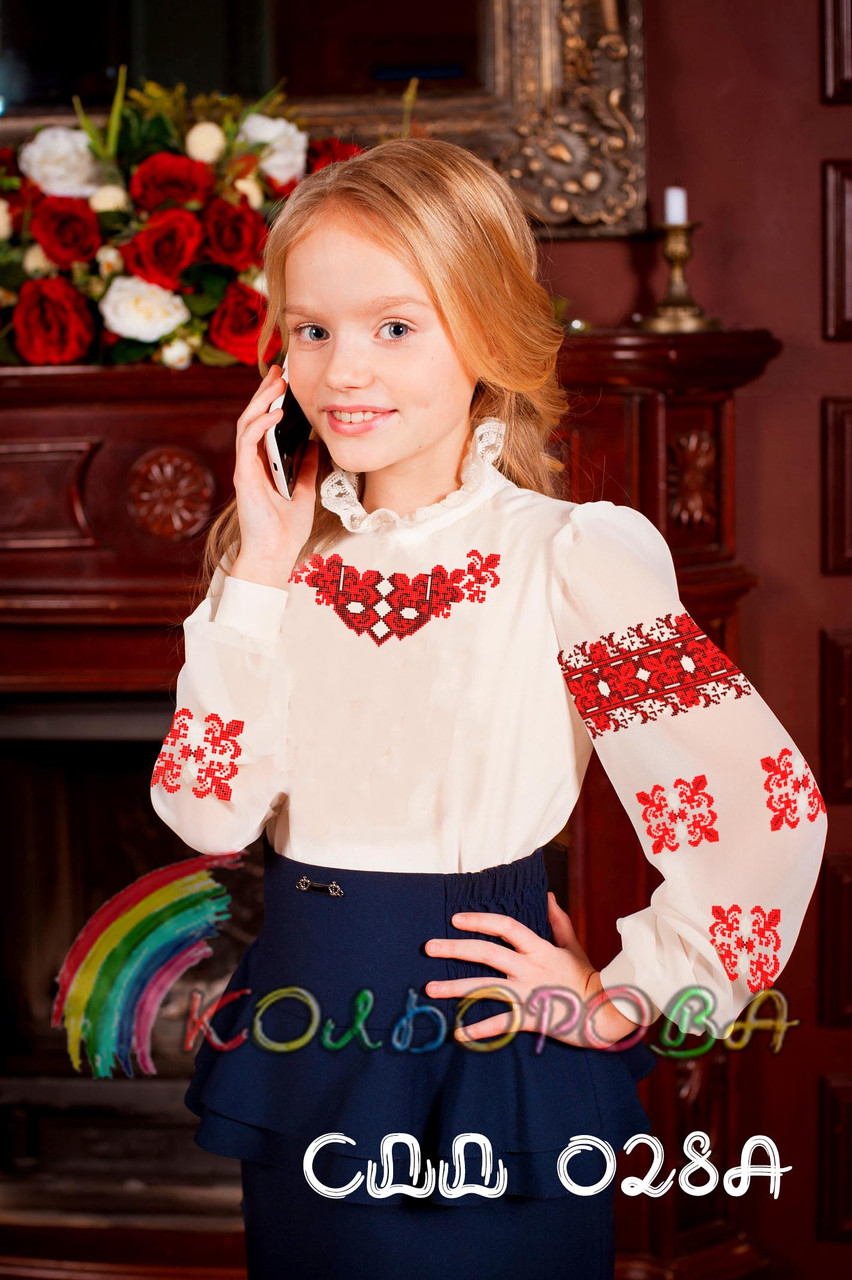 Заготовка блузки детской СДД-028А