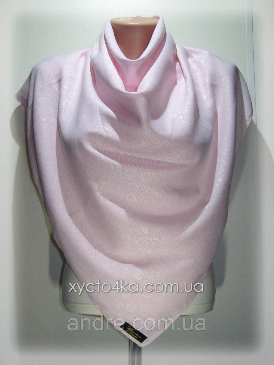 Однотонные шерстяные платки Прованс, розовый